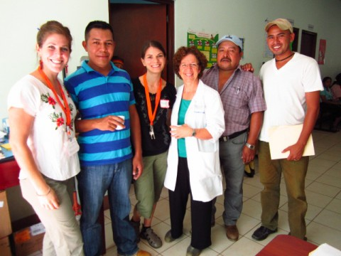 Amanda, Kayla, and August with San Juan de Rio Coco coop collaborators