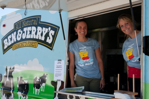 Ben & Jerry's Homemade at the annual GMCR/GFH Car Wash