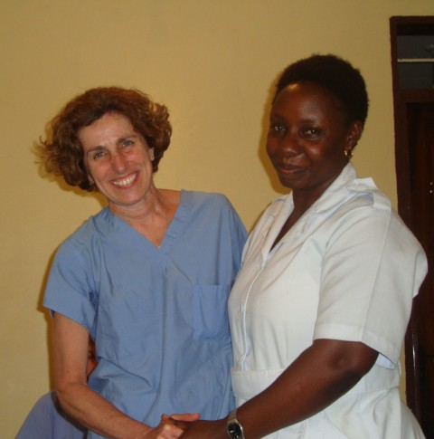 Grencia and GFH volunteer Susan Hollinger