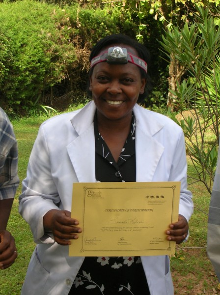 Leonarda with her GFH certificate, June 2009