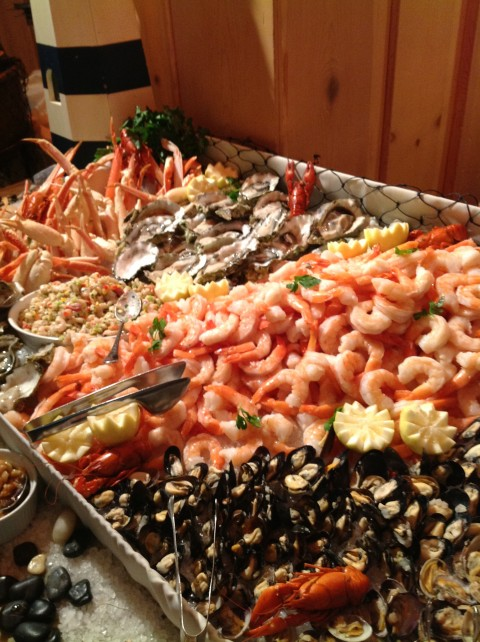 Incredible spread at our reception, which was hosted by Farmer Brothers / Coffee Bean International