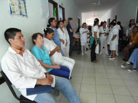 The waiting room at the clinic