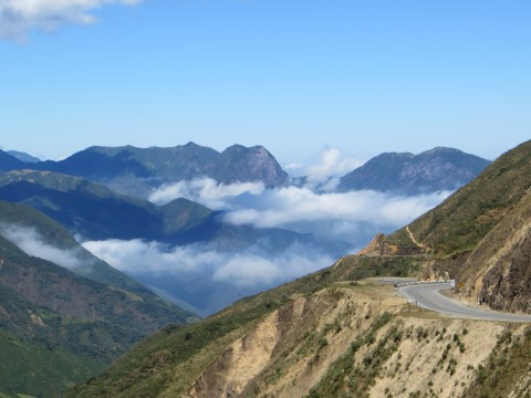 Mountain pass on the drive to Jaen.