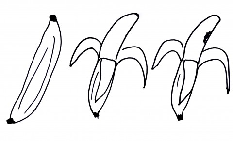 Image of a banana to illustrate the concept of a bad spot