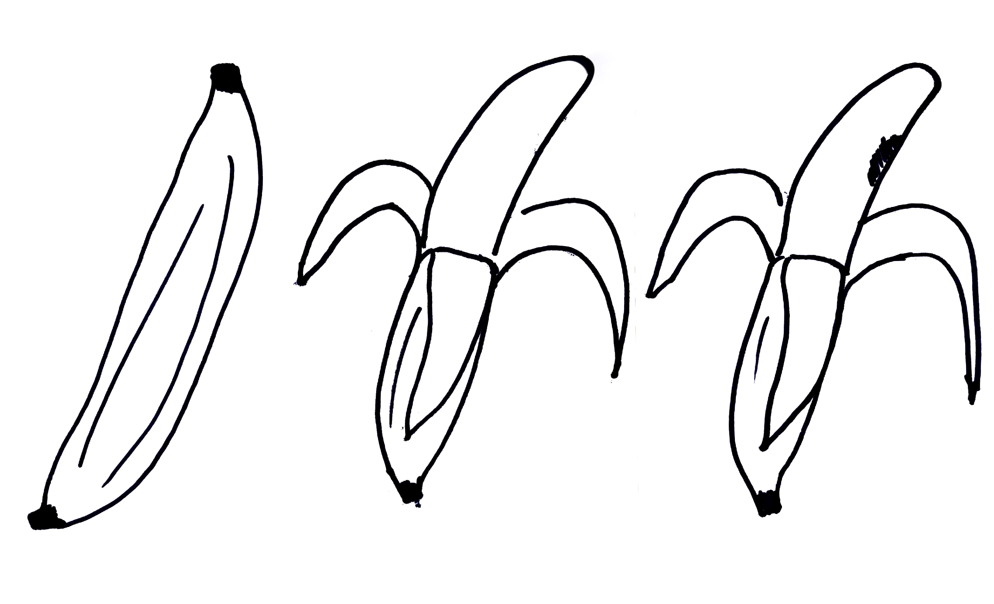 Banana Drawing Outline images