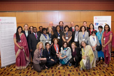 Partners from the Global Forum on Cervical Cancer Prevention unveiled the Universal Call to Action
