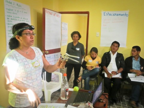 Ena leading a training session