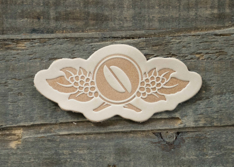 Natural leather patch by Leatherworks Minnesota